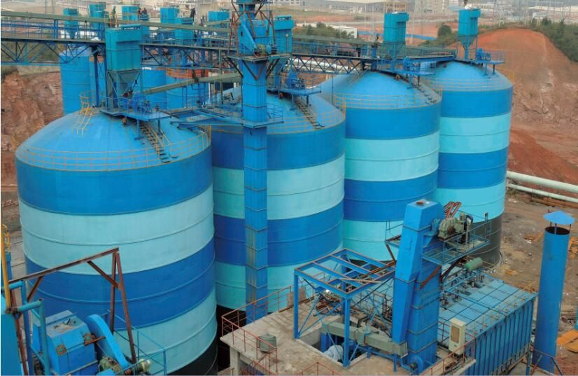 4×5000m³粉煤灰钢板库